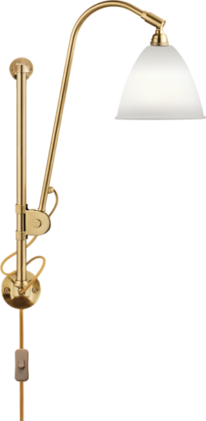 BL5 Væg Lampe - Ø16, Messing base, EU (Soft Hvid Semi Mat)