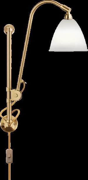 BL5 Væglampe - Messing med soft sort semi mat skærm
