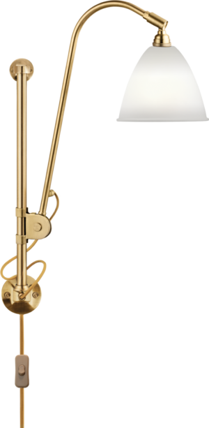 BL5 Væg Lampe - Ø16, Messing base, EU (Soft Sort Semi Mat)