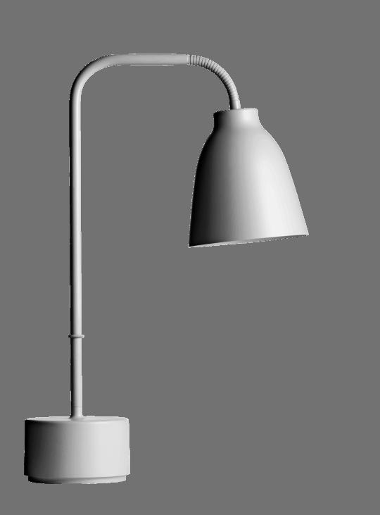 CARAVAGGIO READ TABLE GREY25 | Lampe Studio