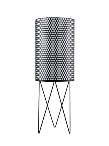 PD2 Pedrea Gulv Lampe, (Sort Semi Mat)
