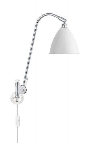 BL6 Væg Lampe - Ø16, Chrome base, EU (Soft Hvid Semi Mat)