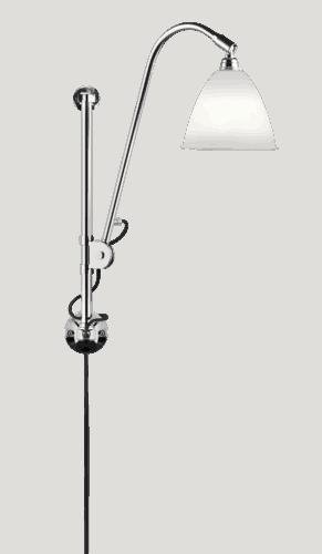 BL5 Væg Lampe - Ø16, Chrome base, EU (Bone China)