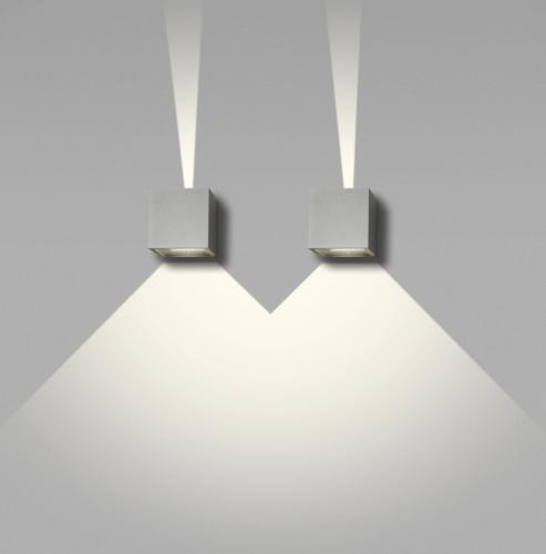 CUBE MINI LED 8X8X8CM SILVER
